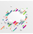 dynamic and colorful template for advertising vector image vector image