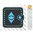 ethereum classic wallet flat icon with bonus vector image