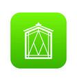 fairy window frame icon green vector image vector image