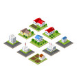 farm set of houses vector image vector image