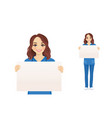 female nurse character wit board vector image vector image