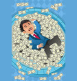 financial concept of a happy businessman in a vector image vector image