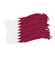 flag of qatar grunge abstract brush stroke vector image vector image