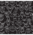 Funny owls seamless pattern for your design vector image vector image