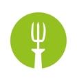 garden rake isolated icon vector image vector image