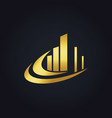 gold business finance abstract building logo vector image vector image
