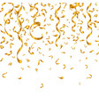 gold glitter confetti and serpentine vector image vector image