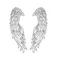 hand drawn angel wings valentines day banner