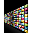 Iphone app icons set background vector image vector image
