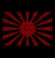 japanese rising sun halftone icon vector image