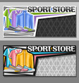 layouts for sport store vector image vector image