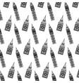 line big ben tower architecture background vector image