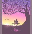 lovers color vector image