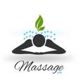 massage green icon logo vector image vector image