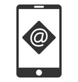 mobile email flat icon vector image vector image
