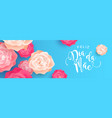 mothers day flower banner in portuguese language vector image vector image