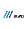 real estate business logo vector image vector image