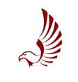 Red eagle with wings vector image