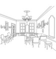 retro luxury interior sktch furniture blueprint vector image vector image