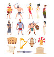 rome elements cultural ancient traditional vector image