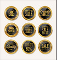 sale retro vintage gold and black badges and vector image vector image