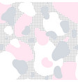 seamless pattern of pink gray and white spots vector image vector image
