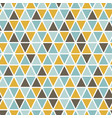 seamless pattern with random triangles vector image