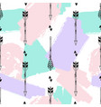 seamless pattern with tribal arrows triangles and vector image vector image