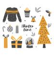 set essential festive christmas elements vector image vector image