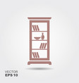 shelving for books vector image