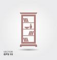 shelving for books vector image