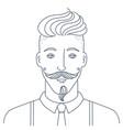 simple style portrait hipster man barber shop