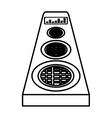 speaker music player isolated icon vector image vector image