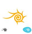 Sun tribal spiral logo vector image vector image