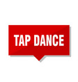 tap dance red tag vector image vector image