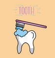 tooth image cartoon vector image vector image