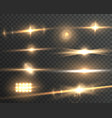 transparent lens flare effect set vector image