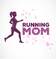 typographic running mom text vector image vector image