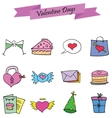 Various element valentine set collection vector image vector image