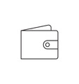 Wallet icon outline vector image vector image