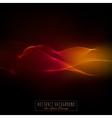 Waved lines for card flyer designred and orange vector image