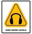 wear earmuffs or ear plugs vector image