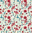 Wine seamless pattern with biootle and glass vector image vector image