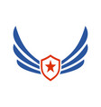 wings star power logo icon vector image vector image
