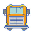 yellow school bus to children transportation vector image
