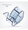Twisted film for photo or video recording on white vector image
