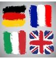 Grunge European flags set vector image