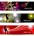 Guitarist abstract banner for web designrist vector image