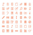 49 note icons vector image vector image