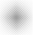 Abstract black and white curved shape pattern vector image vector image